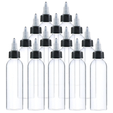 Empty-Bottle-Container Tattoo-Ink Plastic Color-Pigment 5pcs 100ml for with Cap Clear