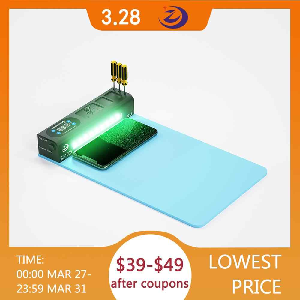 Ponsel Layar LCD Separator dengan Lampu Mesin Perbaikan Kit Refurbish Alat Kaca Terbuka Remover Bantalan Pemanas