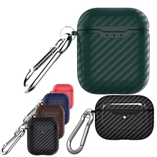 Carbon Fiber Earpods Silicone Case for AirPods Pro 2 1 Case Shockproof Coque for Airpod