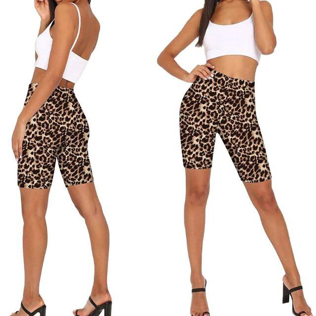 Women High Waist Biker Shorts Snakeskin Leopard Tie-Dye Digital Printed Workout Shorts Female Fitness Skinny Cycling Streetwear 3