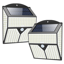 318/360/436/720 LED Solar Powered Lights Outdoor Street Wall Security Bright PIR Motion