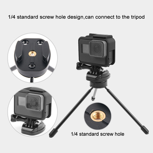 Image 3 - Fixation rapide en métal pour GoPro Hero 6 5 7 8 9 noir Session Xiaomi Yi 4K Sjcam support de plaque de trépied pour Go Pro Hero