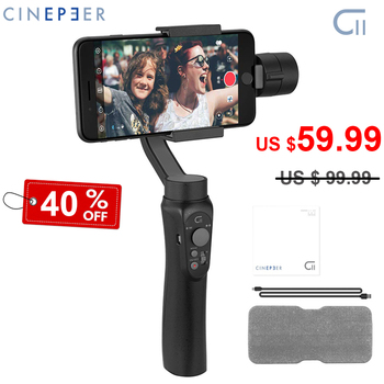 Zhiyun CINEPEER C11 3-Axis Handheld Smartphone Gimbal Stabilizer for iPhone 11 Pro XS Max XR X S10 S9 PK Smooth 4 KEELEAD Gimbal