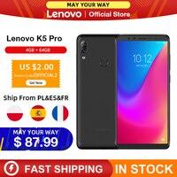 Original Global Version Lenovo K5 Pro 4GB RAM 64GB Snapdragon 636 Octa Core Four Cameras 5.99 inch 4G LTE Smartphone