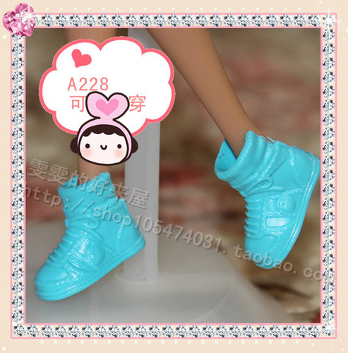 1/6 Doll Shoes Mix style High Heels Sandals Boots Colorful Assorted Shoes Accessories For Barbie Doll Baby Xmas DIY Toy 25