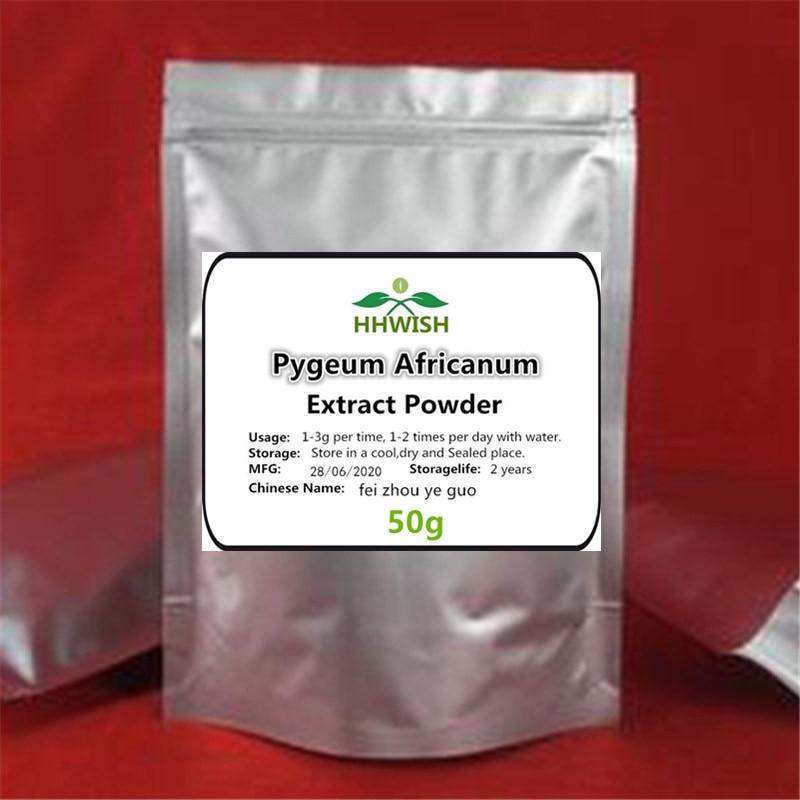 50 г-1000 г, высококачественный экстракт Pygeum Africa anum, порошок 10:1, Африканские Дикие фрукты, Фэй Чжоу е Гуо, бесплатная доставка