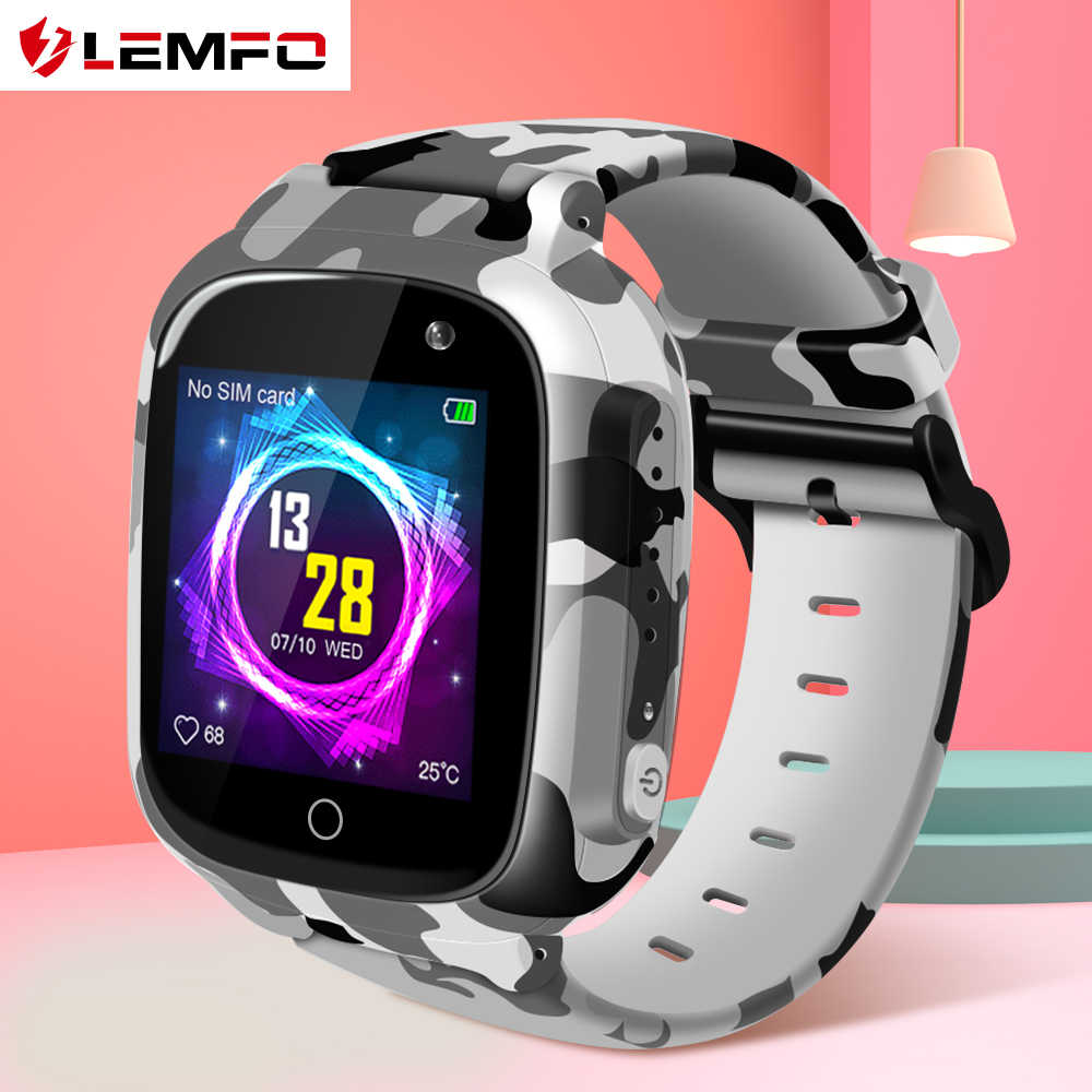 LEMFO Waterproof Kids Smart Watch SIM Card GPS WIFI SOS Dial Call Camera Baby Smart Watch For Children 600Mah Battery