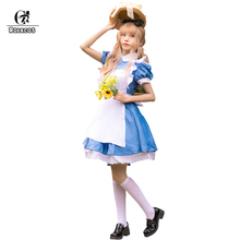 ROLECOS Women Maid Maids Cosplay Costume Costumes Fancy Lolita Dress Lady Maid Layered Dress Cosplay Games 3 Color