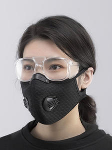 Mask Face-Cover 4-Replacement-Pad Cycling Half-Face 2-Exhaust-Valves Outdoor with Reusable