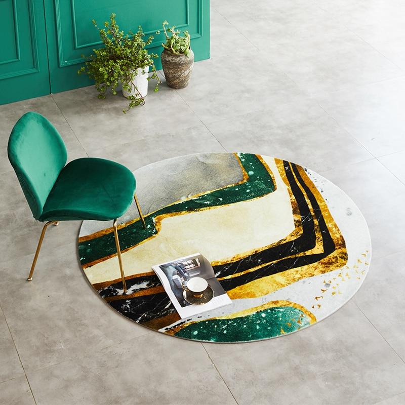 Moderne luxe tapis rond nordique américain ménage suspendu panier tapis thé Table chambre salon