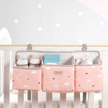 Sunveno Baby Storage Organizer Crib Hanging Storage Bag Caddy Organizer for Baby Essentials Bedding Set Diaper Storage Bag 13