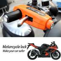 Universal Motorcycle Lock Scooter Handlebar Safety Lock Brake Throttle Grip Anti Theft Protection Security Locks High Quality
