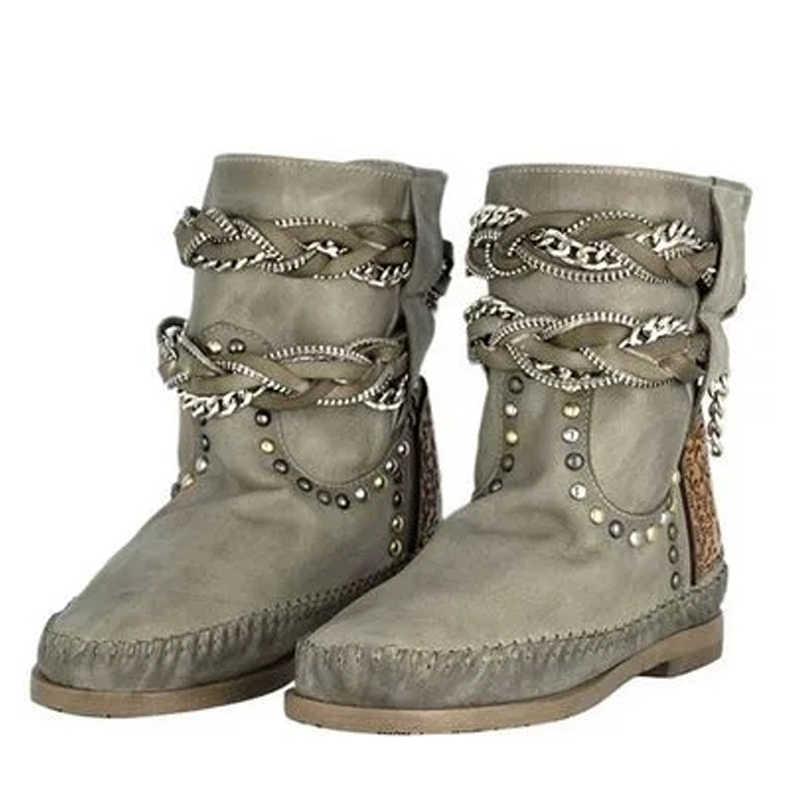 Женские ботильоны из искусственной кожи в стиле ретро; Новинка; сезон осень-зима; Модные женские пикантные ботинки на низком каблуке-столбике