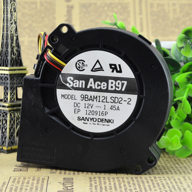 FOR Sanyo 9BAM12LSD2-2 <font><b>12V</b></font> 1.45A <font><b>9733</b></font> Server <font><b>Blower</b></font> Cooling <font><b>Fan</b></font> image