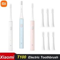 Xiaomi-cepillo de dientes eléctrico Mijia T100, resistente al agua IPX7, recargable e inalámbrico