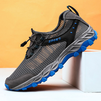 VastWave Summer Breathable Men Hiking Shoes Outdoor Casual Sneakers Shoes for Men Mountain Climing Male Sport Leisure Shoes Man цена 2017