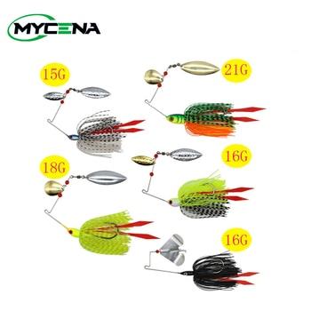 Mycena 5pcs/set 16G&18G&21G  spinnerbait  Chatter bait fishing lure  chatterbait Fishing Kit  Wobblers For Bass Fishing Tackle