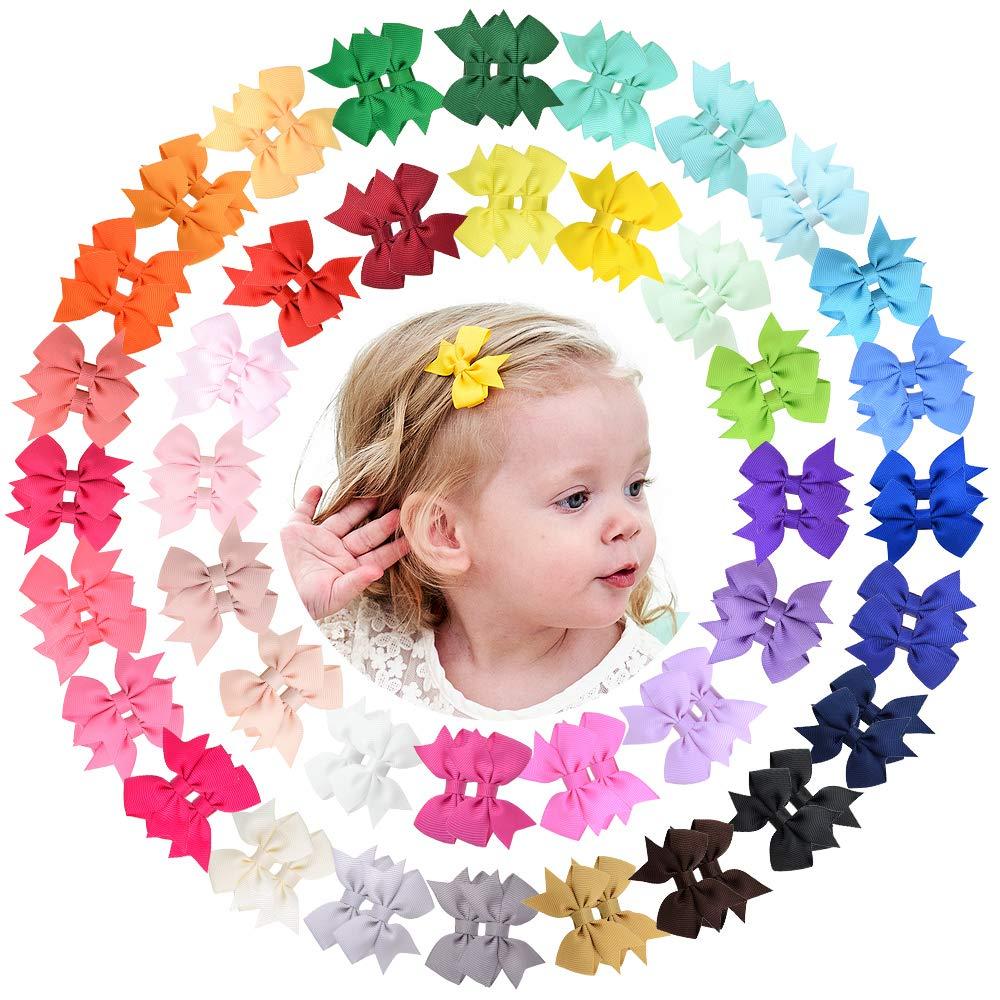 Заколки для волос крошечные с полной подкладкой для маленьких девочек, банты для волос 2 дюйма, зажимы типа «крокодил» для маленьких девочек...