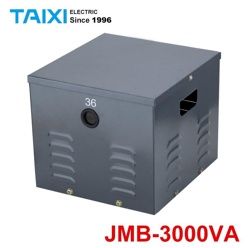 Transformateur d'éclairage de réverbère de JMB-3000VA transformateur 380/220 transformateur d'isolement sec 36/24/12/6V