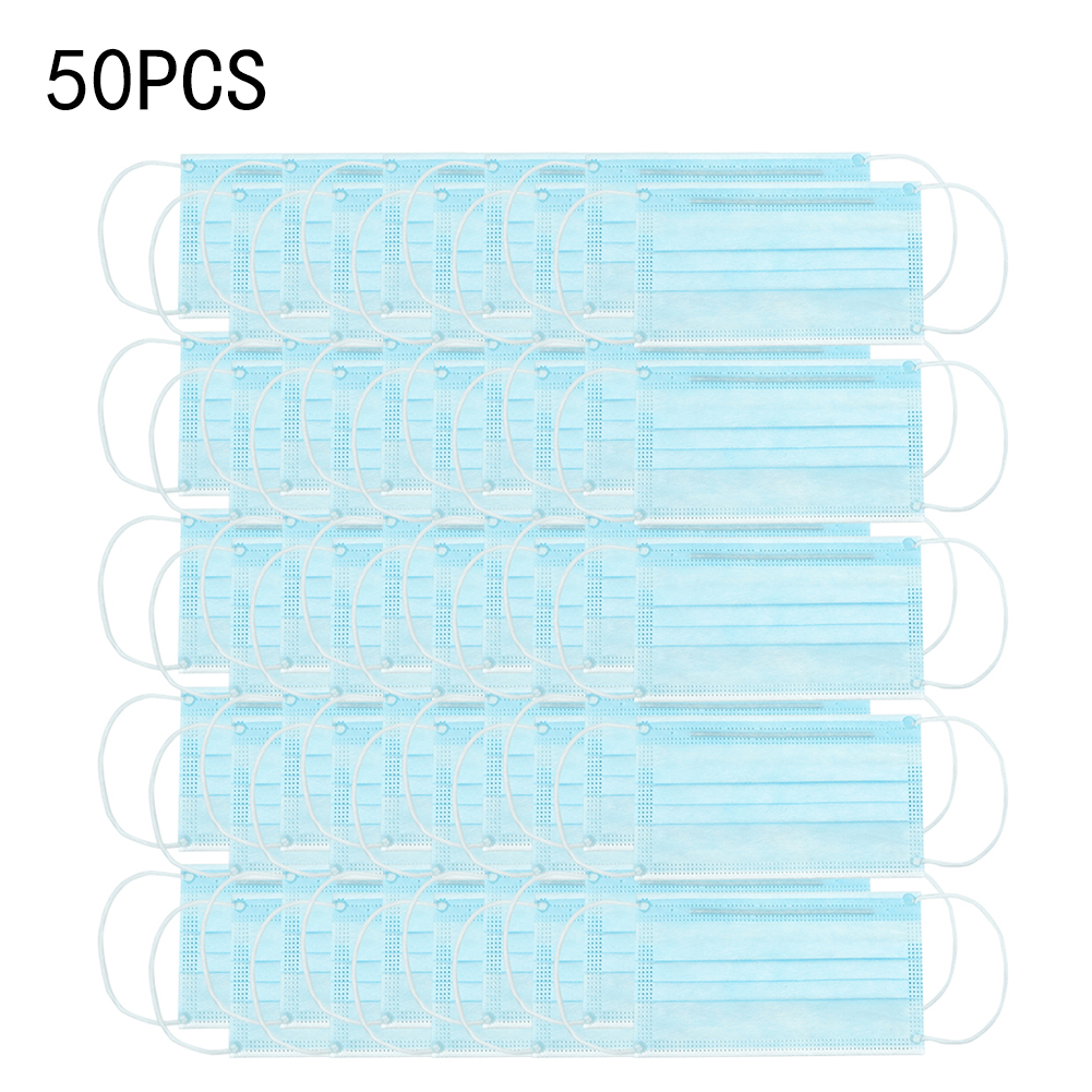 1/20/50/100PCS Face  Covers 3 Layers Non-woven Outer Layer + Filter Paper Layer + Skin Friendly Inner Disposable Mouth Covers