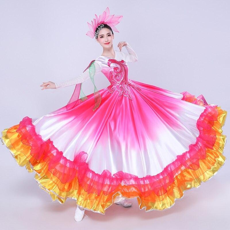 Абсолютно Новый Популярный танцевальный костюм для мальчиков, большая юбка для танцев, Женский костюм для взрослых, новинка 2019
