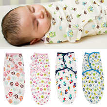 Newborn Baby Swaddle Wrap Parisarc 100% Cotton Soft Infant Products Blanket & Swaddling Sleepsack
