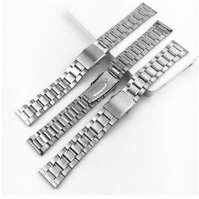 Фото нержавеющая сталь 12/14/16/18/20/22 мм часы на запястье серебряный