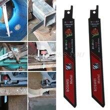 2 Stks/set Zwart Vergeldende Sabre Zaagbladen Voor Snijden Metalen Professionele S922EF Accessoire Kit Tool Drop Shipping