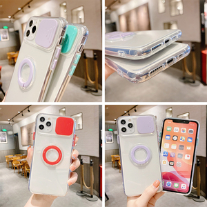 Image 5 - Lens Protection Case For iPhone 11 Pro Max Cases Transparent On iPhone 12pro XR X XS 7 8 Plus 12Mini Holder Ring Soft Back Cover