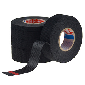 Image 5 - 1pc Heat resistant Wiring Harness Tape Looms Wiring Harness Cloth Fabric Tape Adhesive Cable Protection 19mm x 15M
