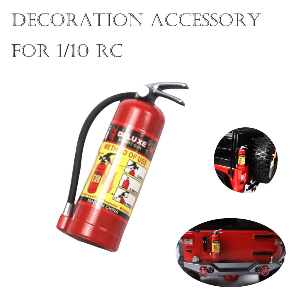 1/10 RC Crawler Accessory Model For Axial SCX10 TRX4 Stickers Parts Fire Extinguisher Car Model Accessories Kids For Toys