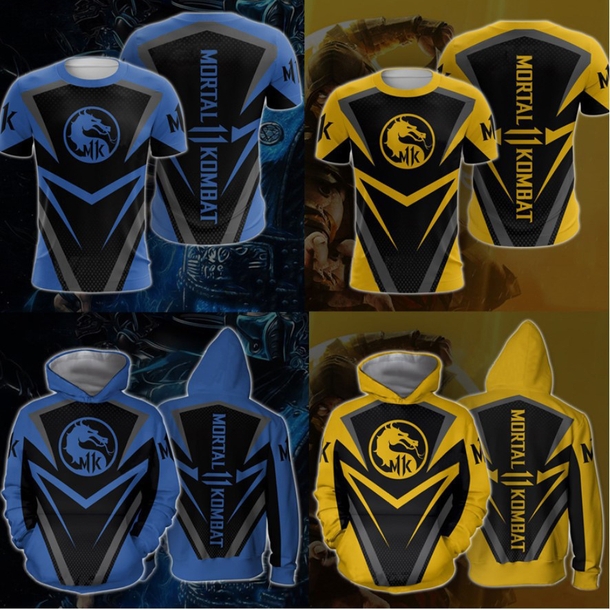 New 3D Game Mortal Kombat 11 Hoodies Sweatshirt X Sub Zero Scorpion T Shirt Anime Cosplay Costume Men Jacket Hooded Top