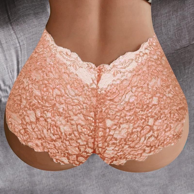 New Sexy Women Lace Lingerie Plus Size Underwear Bowknot Underwear Lace Panties Women Underwear