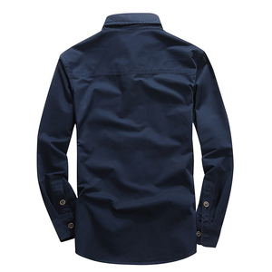 Image 2 - VINRUMIKA 2020 Plus size M 5XL Autumn mens casual brand army green long sleeve shirt man spring 100% pure cotton khaki shirts