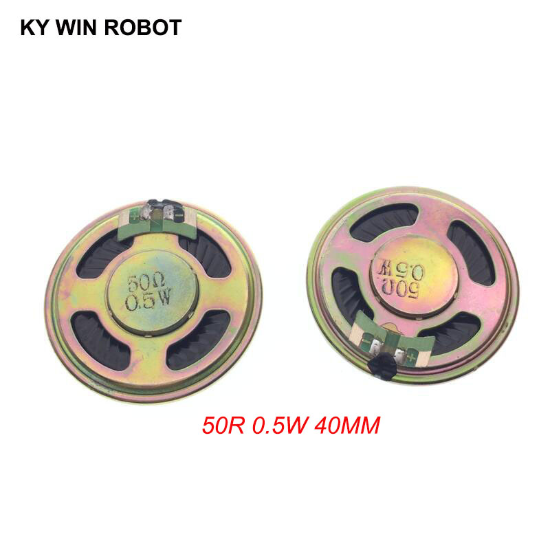2pcs/lot New Ultra-thin Mini Speaker 50 Ohms 0.5 Watt 0.5W 50R Speaker Diameter 40MM 4CM Thickness 5MM