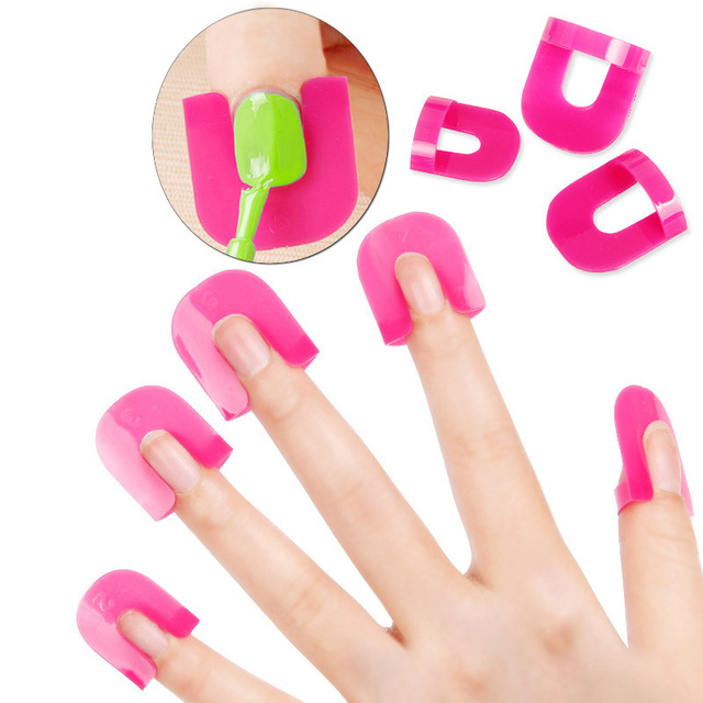 High Quality Fashion 26 Pcs Nail Form Gel Model Clip Manicure Nail Art Spill-proof Finger Cover DIY Tools Free Shipping SMJ