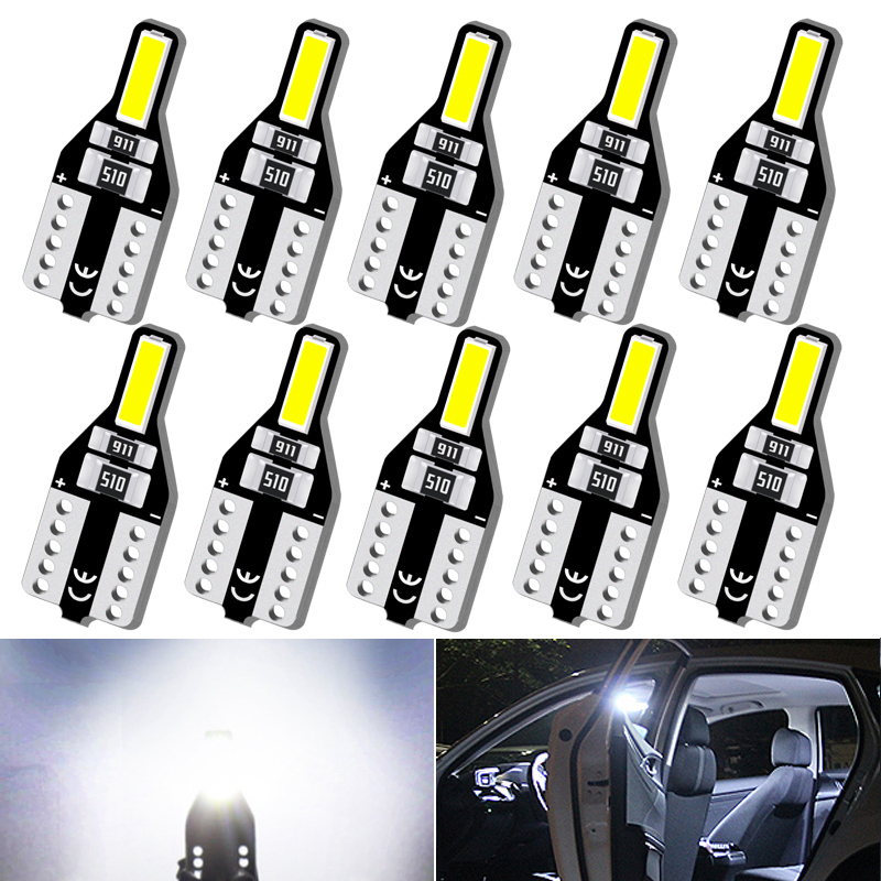 10x T10 Led W5W Bulb Auto Led Interior Light For Volkswagen VW Golf Passat Scirocco Polo Bora Touareg Transporter Car Lights