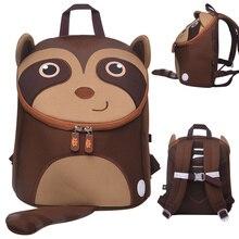 купить 3D Raccoon School Bags for Boys Kids Lovely Animals Schoolbag Girls School Backpacks Waterproof Children Best Gift Travel Bags по цене 629.17 рублей
