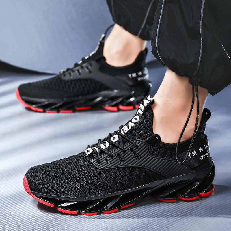 Nowe ostrze buty do biegania dla mężczyzn przeciwpoślizgowe tłumienia fajne podeszwa półbuty Trekking wypoczynek letnie do biegania Zapatills trampki