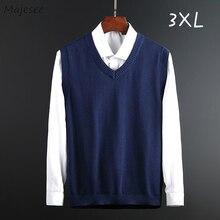 Sweater Vests Knitted Clothing Harajuku Japanese-Style Men Sleeveless V-Neck Male Underwear