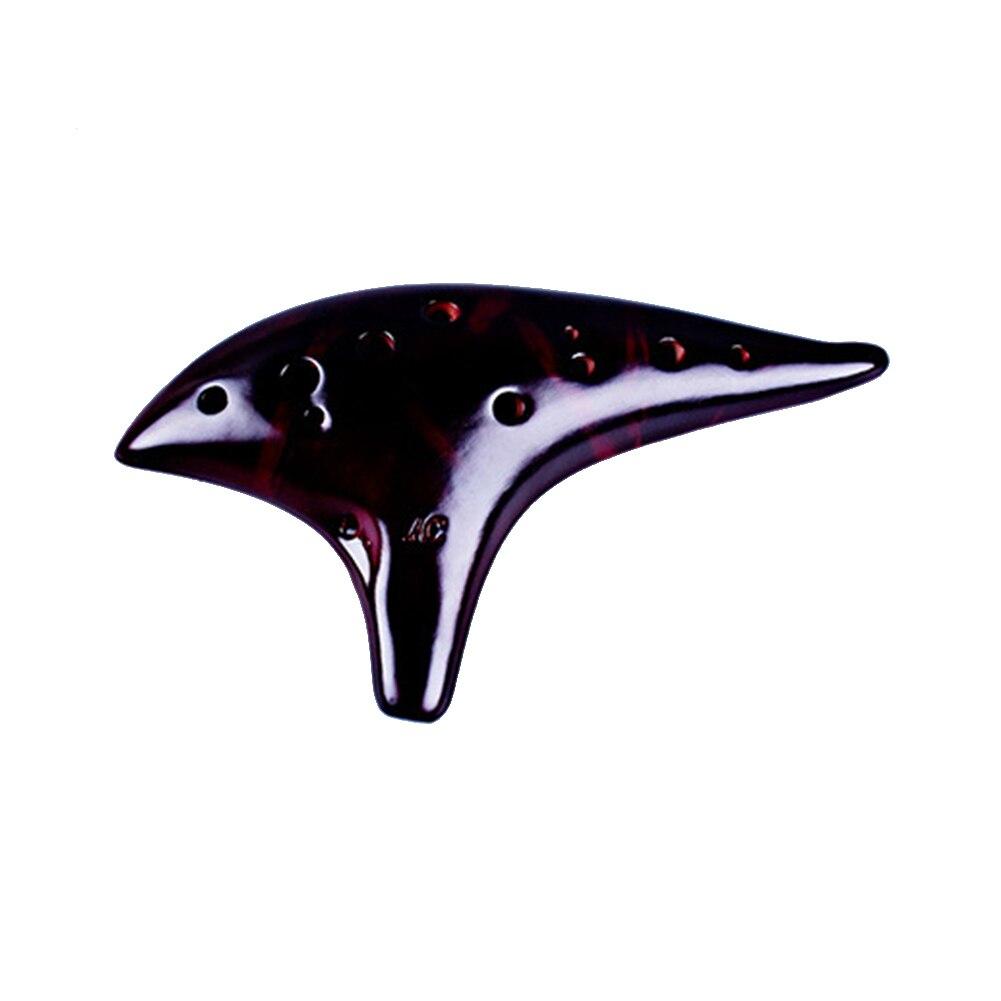 12 отверстий Керамика Окарины подарки ритм Копченый сжечь Alto C музыкальный инструмент Винтаж духовых Профессиональный фарфор флейта - Цвет: 1