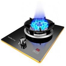 7.0kw газовая варочная панель G газовая плита одинарная плита Бытовая газовая плита сжижение одинарная плита один уголь Рабочий стол Встроенный один