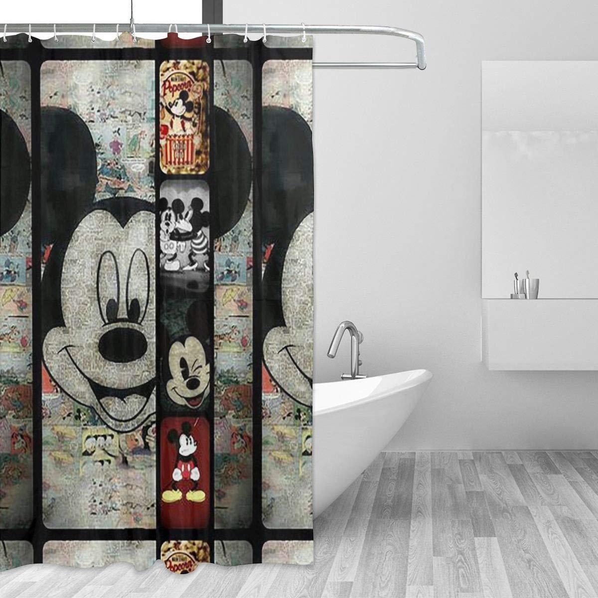 Занавеска для душа с принтом мыши, декор для ванной из полиэстера
