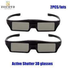 2 قطعة رائجة البيع! عالية الجودة بلوتوث ثلاثية الأبعاد مصراع النظارات النشطة لسامسونج لباناسونيك لسوني 3DTVs التلفزيون العالمي نظارات ثلاثية الأبعاد