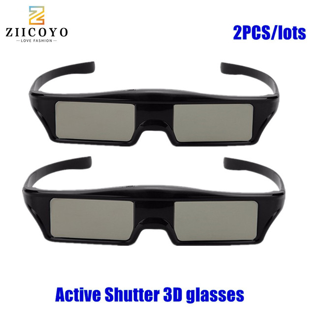 2pcs HOT SALE!HIGH QUALIT Bluetooth 3D Shutter Active Glasses for Samsung for Panasonic for Sony 3DTVs Universal TV 3D Glasses
