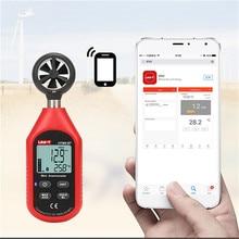 UNI-T UT363BT Wind Speed Meter Digital Bluetooth Pocket Size Anemometer Measurement Thermometer Mini Wind Meter Anemometer mini anemometer wind meter lcd digital wind speed meter sensor portable anemometer wind speed meter new
