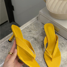 Flip Flop Sandal Slides Women Slipper Slip-On High-Heels Elegant Outdoor Summer Ladies