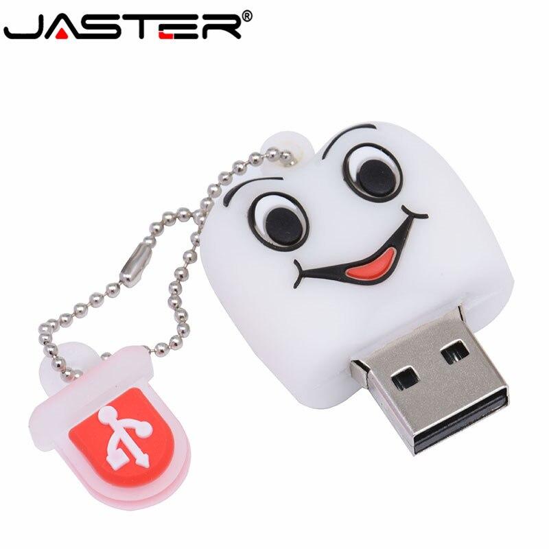 JASTER stylo lecteur cadeau dents modèle mignon 8 GB/16 GB/32 GB/64 GB Usb 2.0 Flash Drive, dent Flash mémoire bâton clé dentiste U Disk