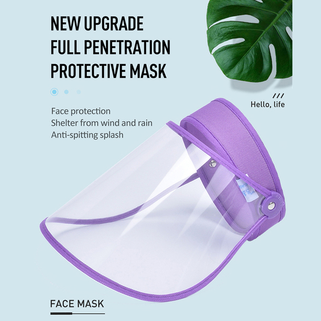Transparent Washable Face Shield Anti-Saliva Splash Anti Droplet Dust-proof Full Face Cover Mouth Mask Protective Visor Shield 1