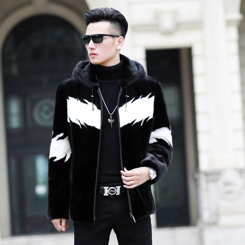 Natural Mink Fur Coat 2020 Real Fur Coat Winter Jacket Men Real Shearling Warm Outwear for Mens Clothing Veste Homme